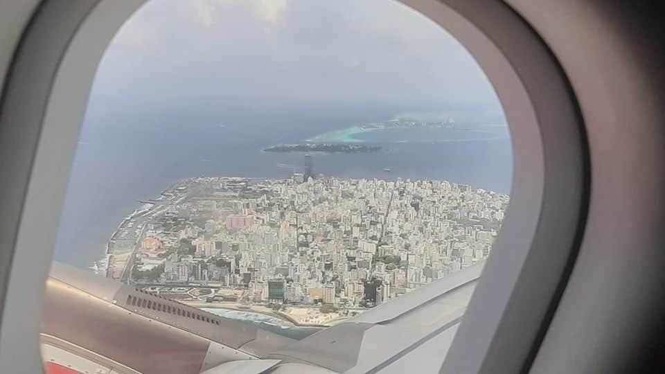 Leaving Maldives